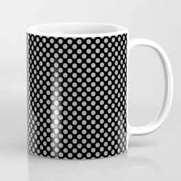 Black and Paloma Polka Dots Coffee Mug
