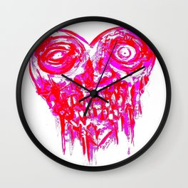Zombie Infected Heart Wall Clock