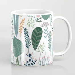 Early Spring Thaw In The Flower Garden Pattern Coffee Mug