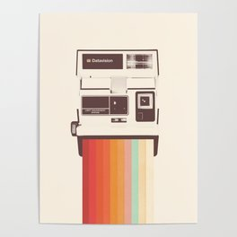 Instant Camera Rainbow Poster