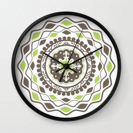Heart Mandala – Green Wall Clock
