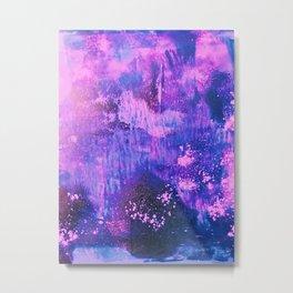 Nightingale Abstract Painting Metal Print