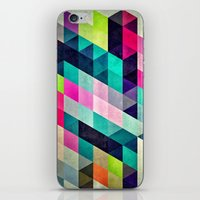 spires iPhone & iPod Skins featuring Cyrvynne xyx by Spires