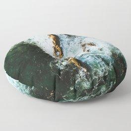 OCEAN - SEA - WATER - ROCKS - PHOTOGRAPHY Floor Pillow