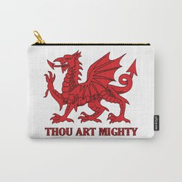Thou Art Mighty Red Dragon Welsh Rugby Carry-All Pouch