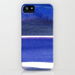 Violet Moonlight Stripes iPhone Case