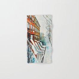 Brooklyn New York In Snow Storm Hand & Bath Towel