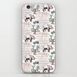 Royal Rhinoceros iPhone Skin