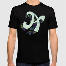 The Letter A MEDIUM Black Mens Fitted Tee