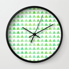 evergreen geometric pattern Wall Clock