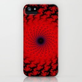 Red Space Spiral Fractal  iPhone Case