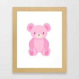 Pink Teddy Bears Framed Art Print