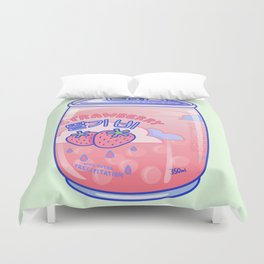 Strawberry Rain Duvet Cover