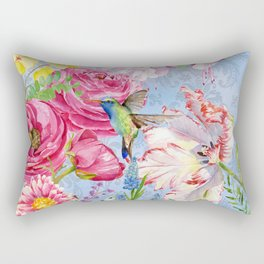 English Garden blue Rectangular Pillow