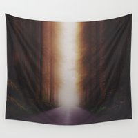 outdoor Wall Tapestries featuring Going home by HappyMelvin
