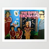 the royal tenenbaums Art Prints featuring Royal Tenenbaums by L. Chacon