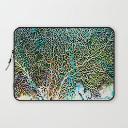 Ocean Sea Fan by Barbara Chichester Paintographer Laptop Sleeve