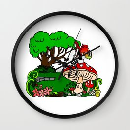 Faerie Forest Wall Clock