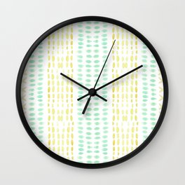 Striped dots and dashes Wall Clock
