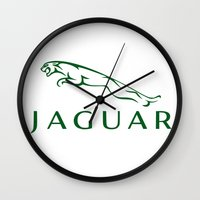 jaguar Wall Clocks featuring Jaguar by kartalpaf
