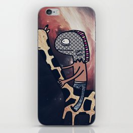 Half Man/Half Fish Riding a Giraffe in Space iPhone Skin
