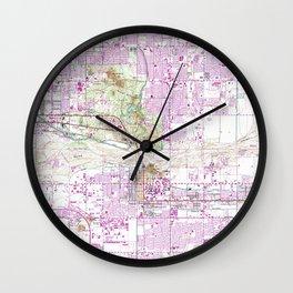 Vintage Map of Tempe Arizona (1952) Wall Clock