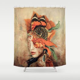 Butterfly Lady Shower Curtain