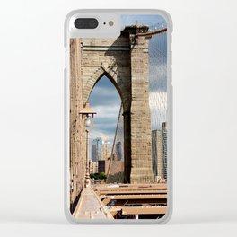 new york city ... brooklyn bridge VI Clear iPhone Case