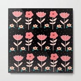 flowers pattern1 Metal Print