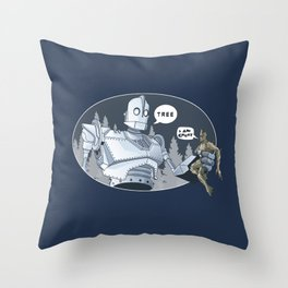 The Giant & Groot Throw Pillow