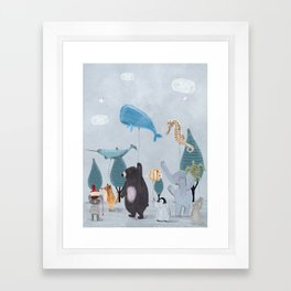 nature parade Framed Art Print