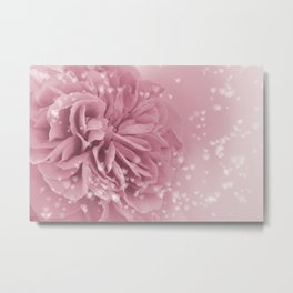 Light Pink Rose with hearts #1 #floral #art #society6 Metal Print