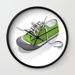 A Green Shoe Wall Clock