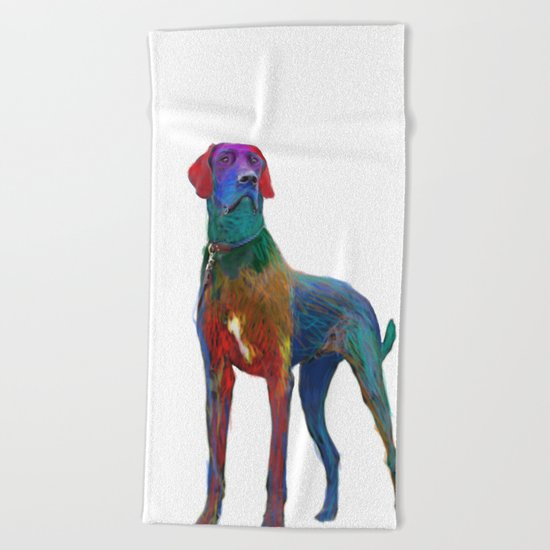 Great Dane Uncropped Beach Towel