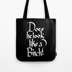 Pulp Calligraphy Tote Bag