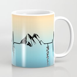 The Mountains are My Hearbeat Coffee Mug