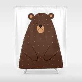 Hibernating Shower Curtain