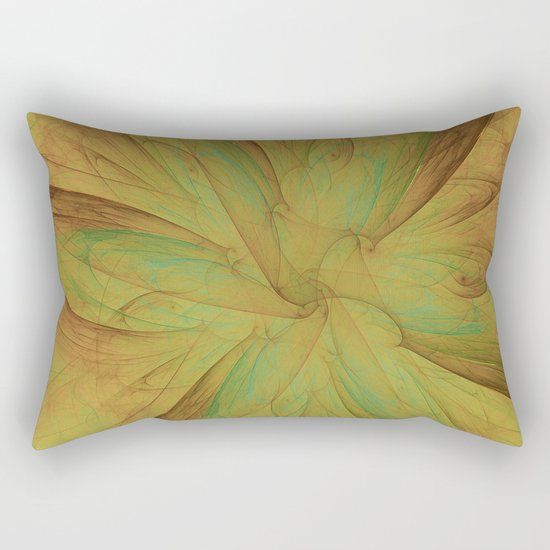 Fall Blossom Fractal Rectangular Pillow