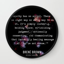 38   | Brene  Brown Quotes  | 190717 | Wall Clock