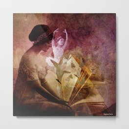 All of her days are written in His Book. Metal Print