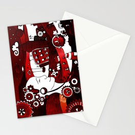 urban-city in a dream Stationery Cards