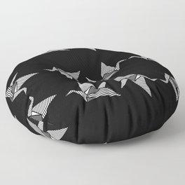 black japanese origami Floor Pillow