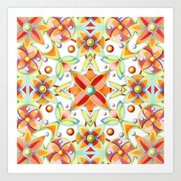 Suzani Textile Pattern Art Print