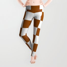 Checkered - White and Brown Leggings