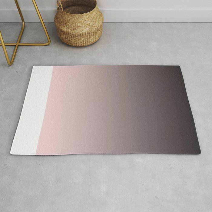 Black Pink Gray Ombre Rug By