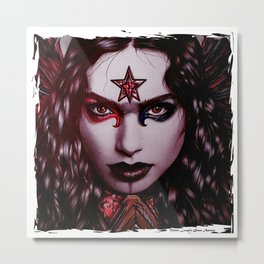 Queen Amazon Intense Metal Print