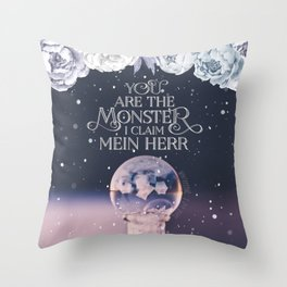 Wintersong - You are the monster I claim Throw Pillow