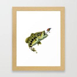 I Fish Largemouth Bass Everything Else Is Bait Framed Art Print