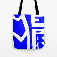 memphis Tote Bags featuring MEMPHIS by John Weeden