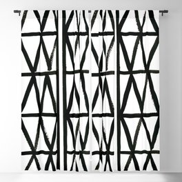 Brush and Ink II Mudcloth Pattern Blackout Curtain